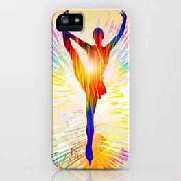 Figure skating ballet dancer iPhone Case