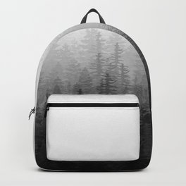 Into The Misty Nature - Black & White Backpack