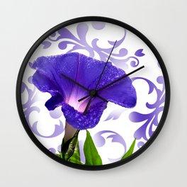 The Morning Glory Wall Clock