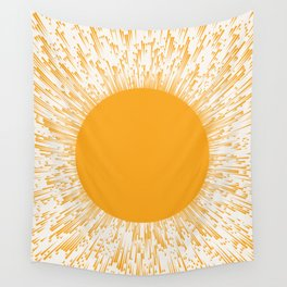 Large Sun Art Print | Abstract Sun Wall Art | Sun Rays Circle Print | Mid Century Modern Poster | ye Wall Tapestry