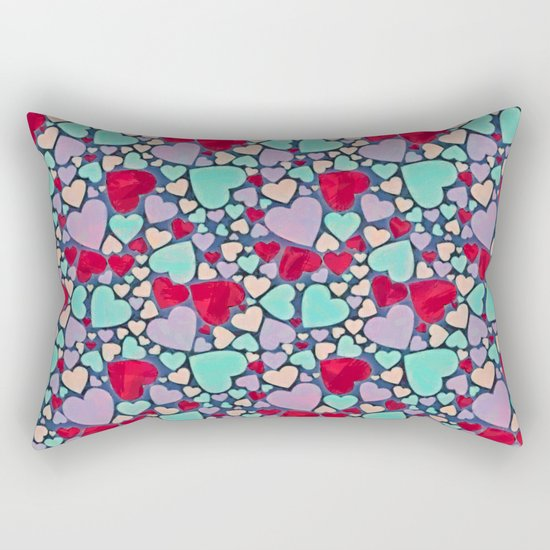Sweet hearts mosaic pattern Rectangular Pillow
