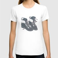 heels T-shirts featuring Moray Heels by Jacqueline Pytyck