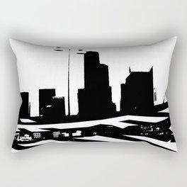 City Scape in Black and White Rectangular Pillow