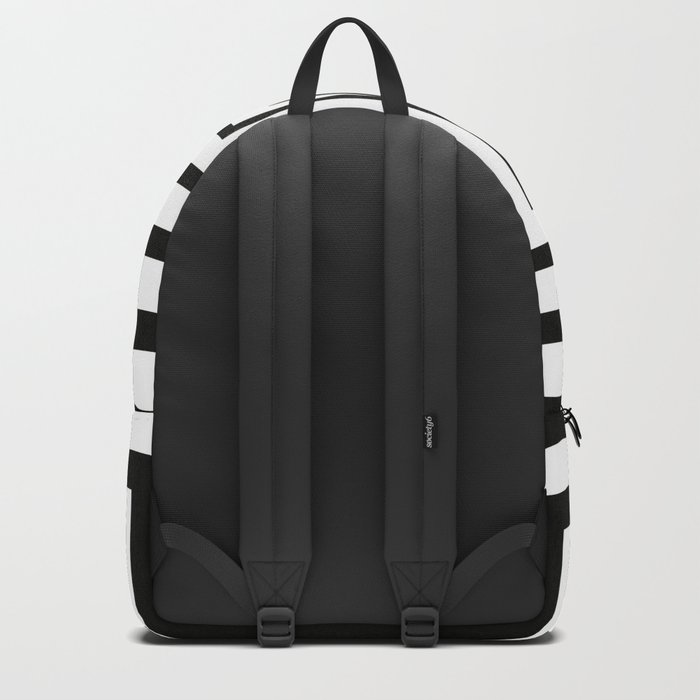 Concentric Squares Black and White Backpack