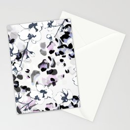 Orchid Interruption Abstract Print Stationery Cards