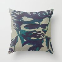 james franco Throw Pillows featuring James by Artistry by Briana