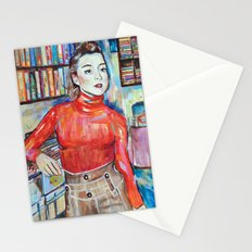 Russian Red, Singer, painting, illustration, art pop Stationery Cards