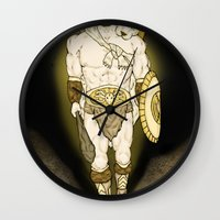hercules Wall Clocks featuring Hercules by wyguy5