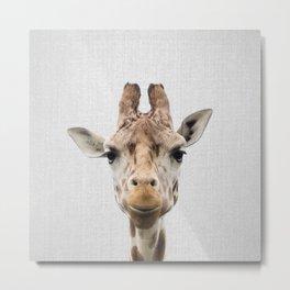 Giraffe - Colorful Metal Print