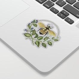 Bombus & Blackberries Sticker