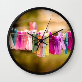Pegged Wall Clock