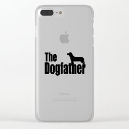 The Dogfather Shirt - Dog Lover gift for father's day - Funny Dog Dad Shirt - Funny Shirt - Funny Gi Clear iPhone Case