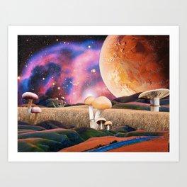 Shroomsfield Art Print