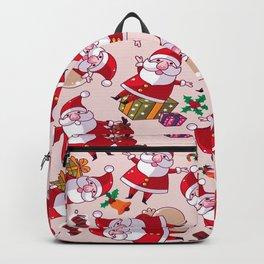 Santa Gift Pattern Backpack