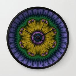Fractal Mandala Wall Clock