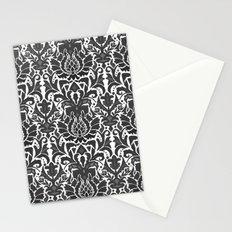 Aya damask mono Stationery Cards