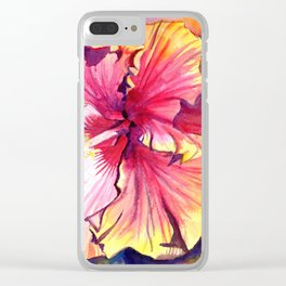 Tropical Hibiscus 13 Clear iPhone Case