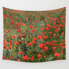 A stroll of poppies Wall Tapestry