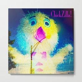 Chickzilla! Metal Print