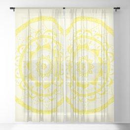 Yellow Mandala Sheer Curtain