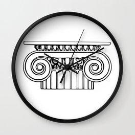 Ionic column Wall Clock
