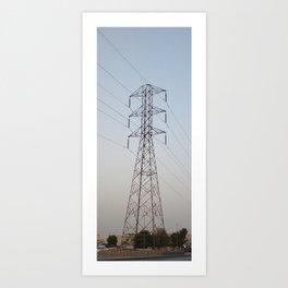 POWER LINE Art Print