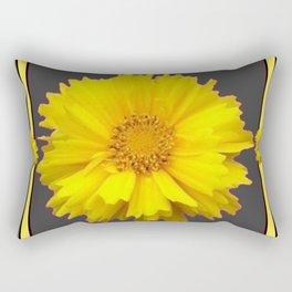 YELLOW & GREY  ART COREOPSIS FLOWERS Rectangular Pillow