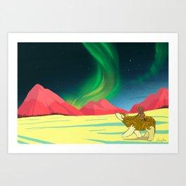 The Northern Lights Art Print