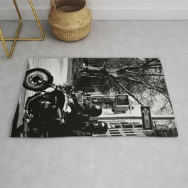 Two on a Motorcycle Rug