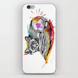 Watercolor Fox  iPhone Skin