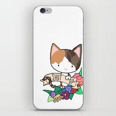 Calico Cat. SHUT UP! iPhone & iPod Skin
