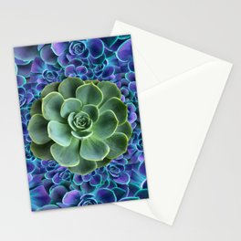 LILAC JADE SUCCULENTS GARDEN PATTERN Stationery Cards
