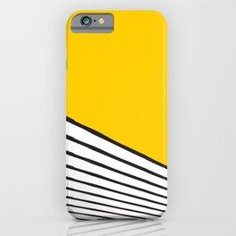 Minimal geometric yellow black modern iPhone Case