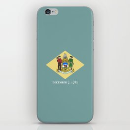 flag delaware,america,usa,Blue Hen,mid-altlantic, Delawarean,Small Wonder,Wilmington,Dover,Newak iPhone Skin