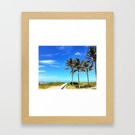 Palm Trees Caribbean Ocean Framed Art Print