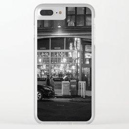 New York Street Corner Clear iPhone Case