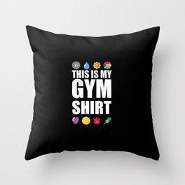 Gym Throw Pillow