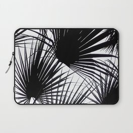 Black and White Tropical Leaves Laptop Sleeve
