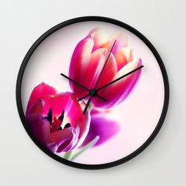 Happy Tulip Greetings Wall Clock