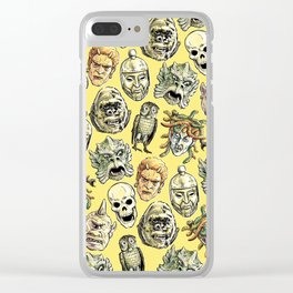 Epic Creatures (yellow) Clear iPhone Case