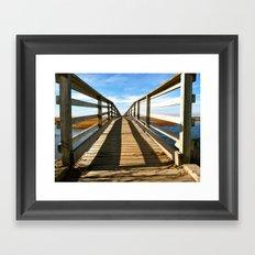 Cross the Bridge Framed Art Print