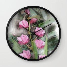 Cymbidium Chili Pepper Orchids Wall Clock