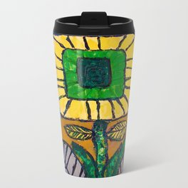 Wild Flower Metal Travel Mug
