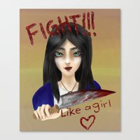alice x zhang Canvas Prints featuring Alice by Sarah Amer