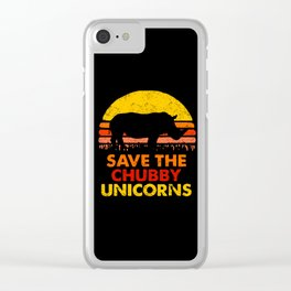 Save The Chubby Unicorns Clear iPhone Case