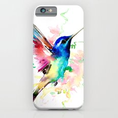 Hummingbird , Blue Turquoise Pink Slim Case iPhone 6s
