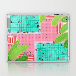 Tropical pink pool Laptop & iPad Skin