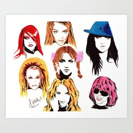 Signed Britney Look Book Prints Art Print
