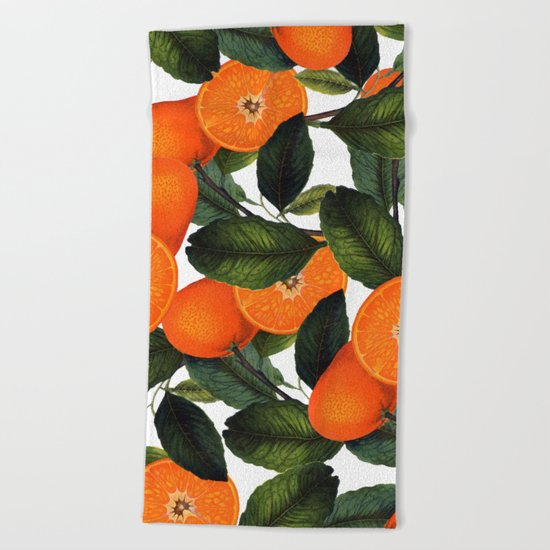 The Forbidden Orange #society6 #decor #buyart Beach Towel
