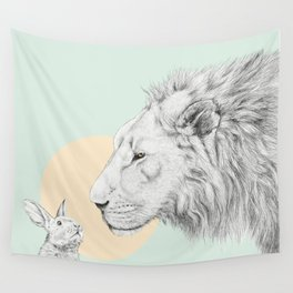 Lion and Bunny Wall Tapestry